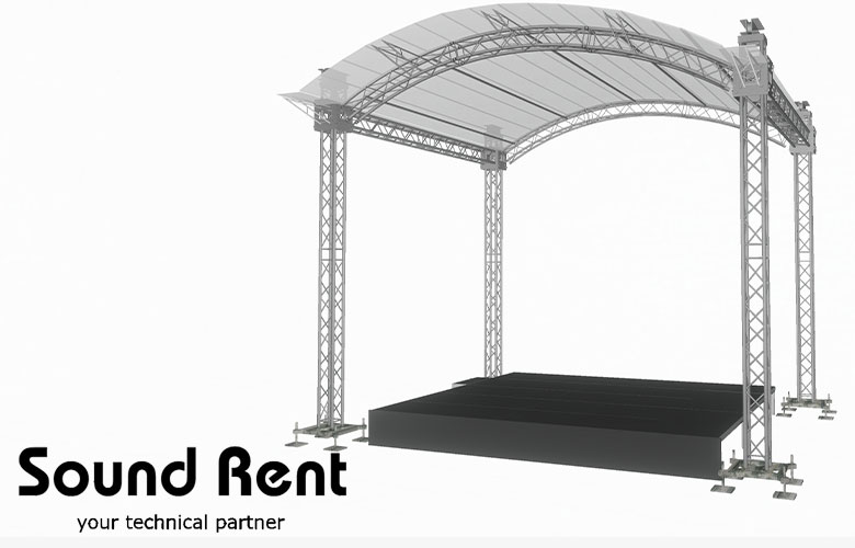 Сцена Grand Support 5х5 арочная