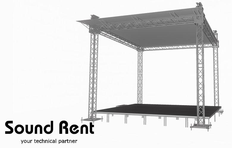Аренда односкатной сцены Grand Support (суперлифт) 5х5
