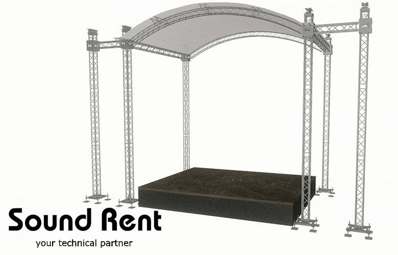 Аренда арочной сцены Grand Support (суперлифт) 7,5х5