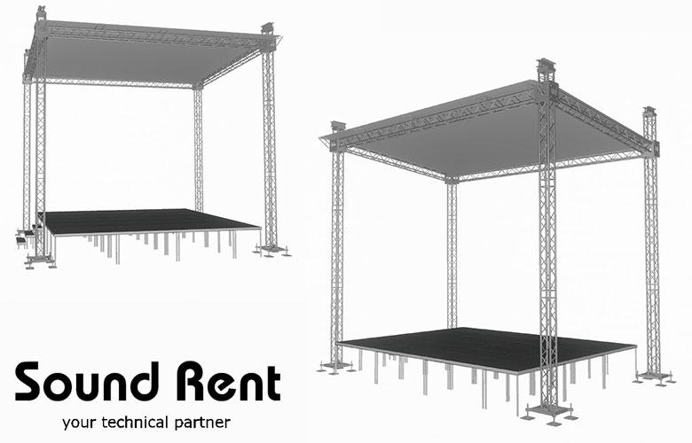 Аренда односкатной сцены Grand Support (суперлифт) 7,5х5