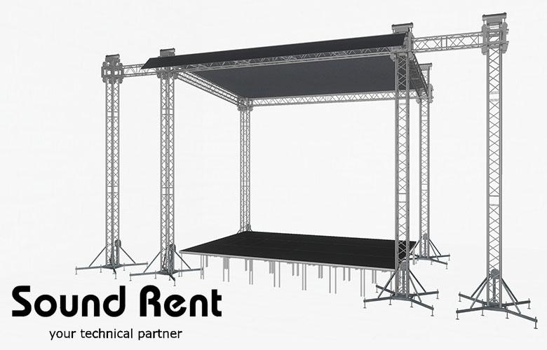 Аренда односкатной сцены Grand Support (суперлифт) 6х8