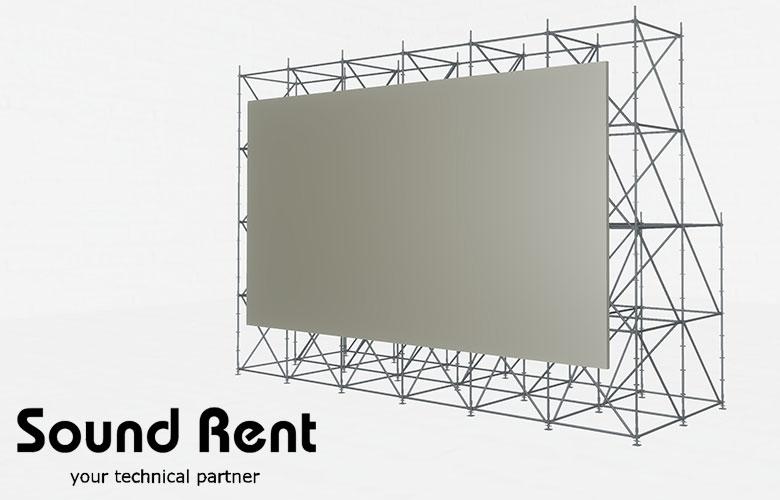 Аренда конструктива под светодиодный экран Layher