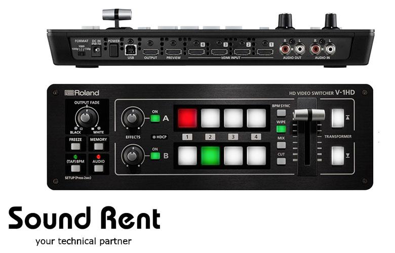 Roland V-1HD аренда киев, аренда видеопульта киев, аренда техники для стриминга Киев