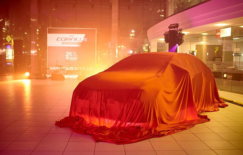 Toyota Corolla презентация Киев. Аренда оборудования для презентации Саунд Рент